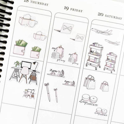 PLAN NEXT WEEK Icon Planner Stickers-The GP Studio