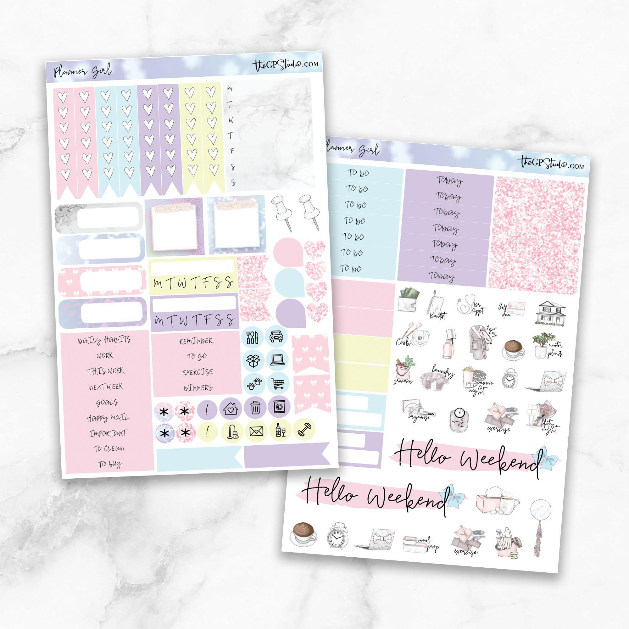 PLANNER GIRL Functional Planner Sticker Kit-The GP Studio