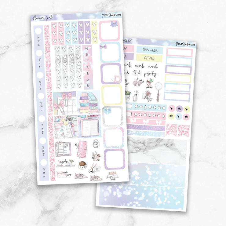 PLANNER GIRL Hobonichi Weekly Size Planner Sticker Kit-The GP Studio