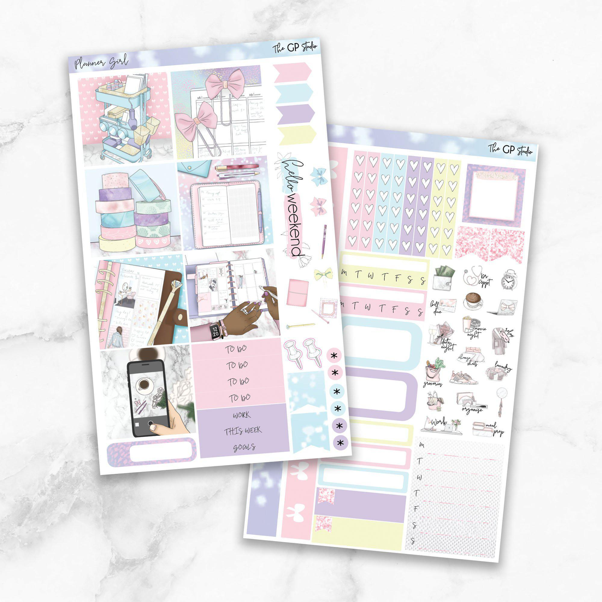 PLANNER GIRL Mini Size Planner Sticker Kit-The GP Studio