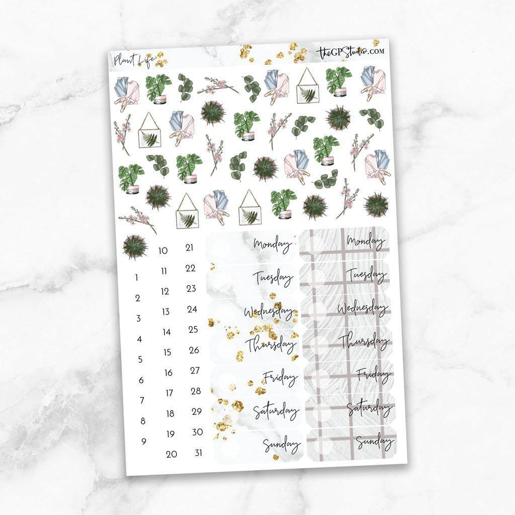 PLANT LIFE Deco & Date Cover Stickers-The GP Studio