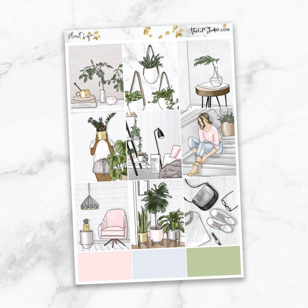 PLANT LIFE Full Boxes Planner Stickers-The GP Studio