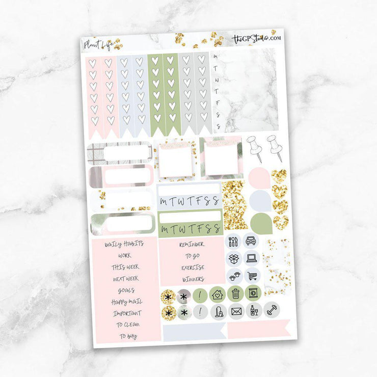 PLANT LIFE Functional Planner Sticker Kit-The GP Studio