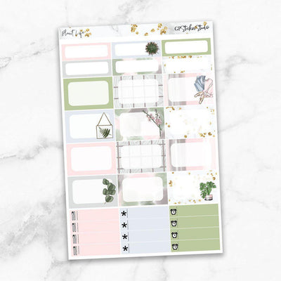 PLANT LIFE Half Boxes Planner Stickers-The GP Studio