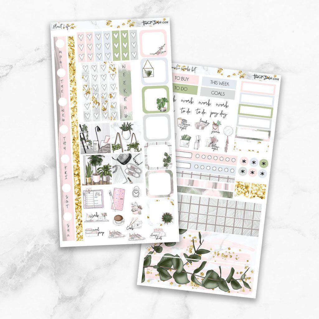 PLANT LIFE Hobonichi Weekly Size Planner Sticker Kit-The GP Studio