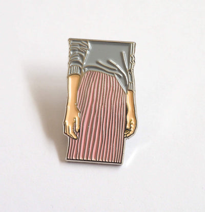 PLEATED SKIRT ENAMEL PIN-The GP Studio