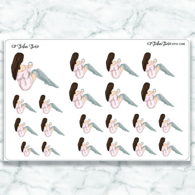 RELAX/ME TIME GIRL Planner Stickers-The GP Studio