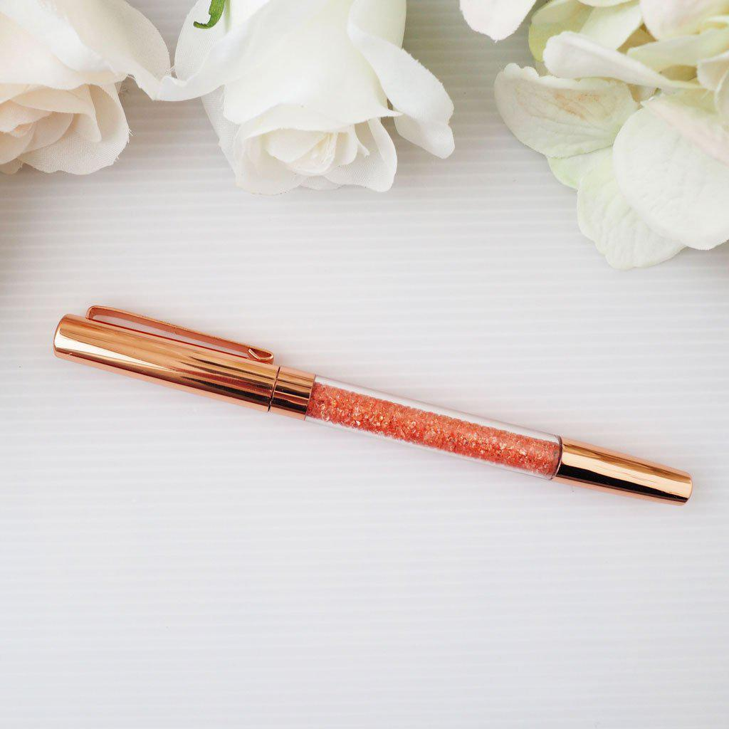 ROSE GOLD CRYSTAL PEN-The GP Studio