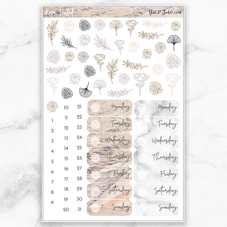 ROSE TINTED Deco & Date Cover Stickers-The GP Studio