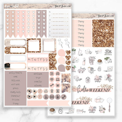 ROSE TINTED Functional Planner Sticker Kit-The GP Studio