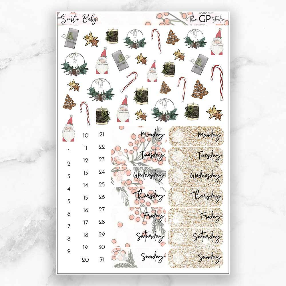 SANTA BABY Deco & Date Cover Stickers-The GP Studio