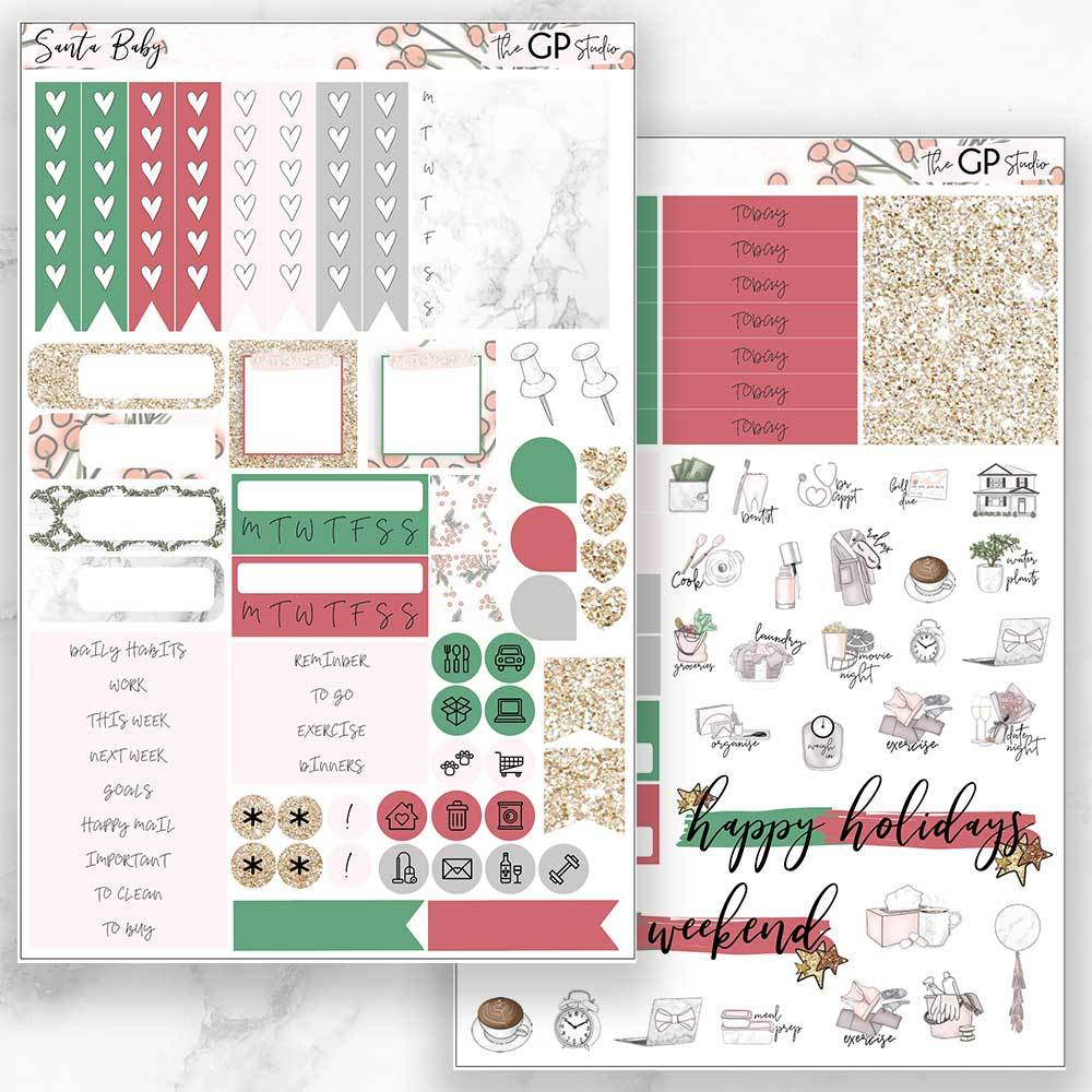 SANTA BABY Functional Planner Sticker Kit-The GP Studio