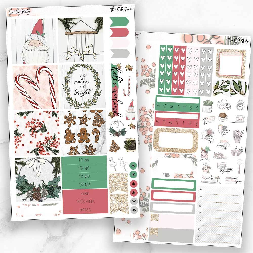 SANTA BABY Mini Size Planner Sticker Kit-The GP Studio