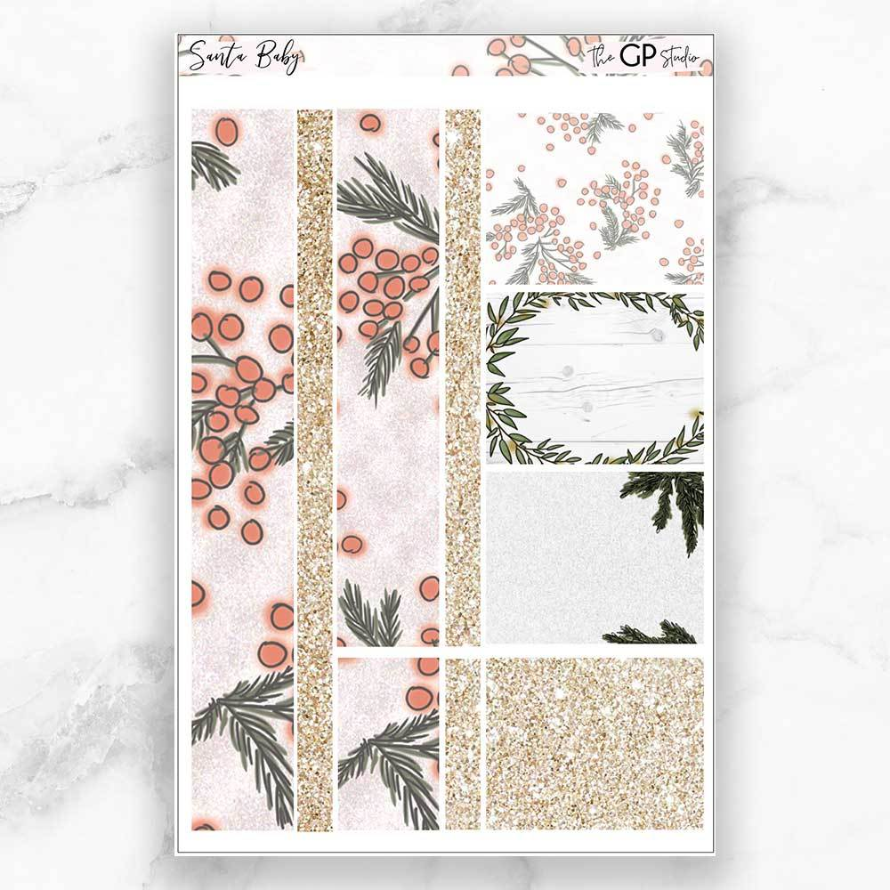 SANTA BABY Washi Sheet Stickers-The GP Studio