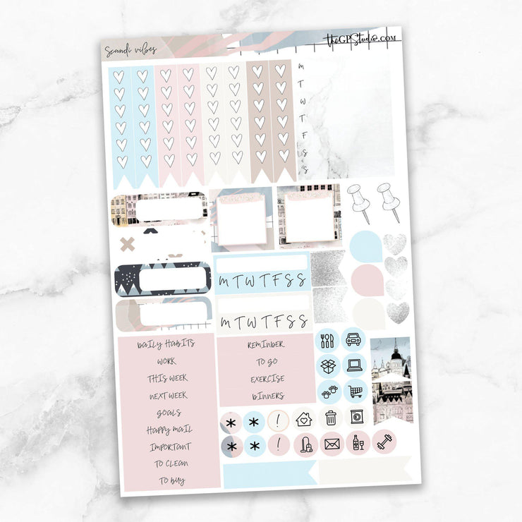 SCANDI VIBES Functional Planner Sticker Kit-The GP Studio
