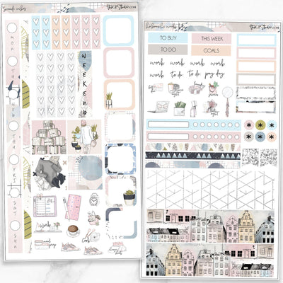 SCANDI VIBES Hobonichi Weekly Size Planner Sticker Kit-The GP Studio