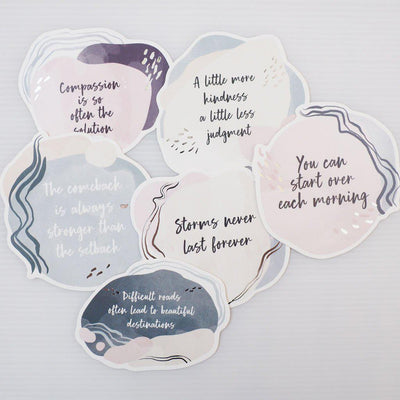 SCANDI VIBES SILVER FOIL QUOTE CARDS - pack of 6-The GP Studio