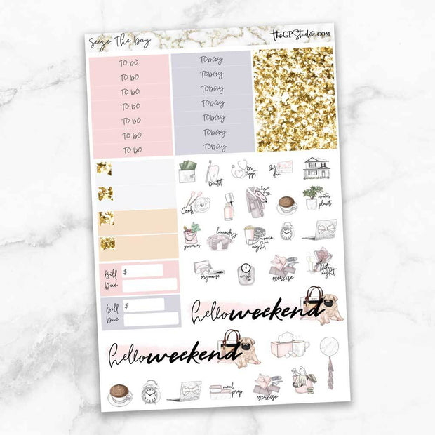 SEIZE THE DAY Functional Planner Sticker Kit-The GP Studio