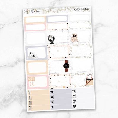 SEIZE THE DAY Half Boxes Planner Stickers-The GP Studio