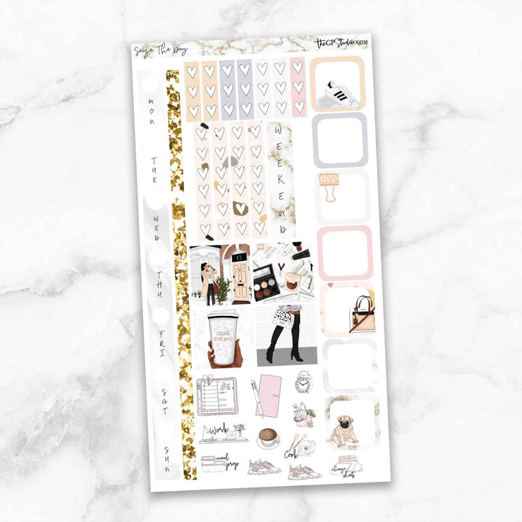 SEIZE THE DAY Hobonichi Weekly Size Planner Sticker Kit-The GP Studio