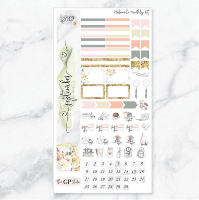 SEPTEMBER MONTHLY Sticker Kit Hobonichi Week's Size-The GP Studio