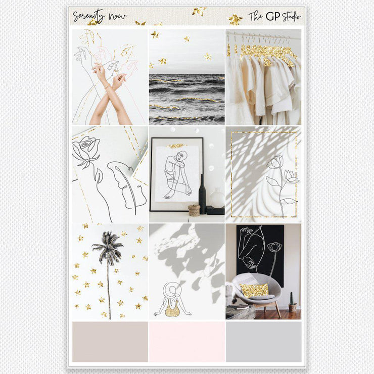 SERENITY NOW Full Boxes Planner Stickers-The GP Studio
