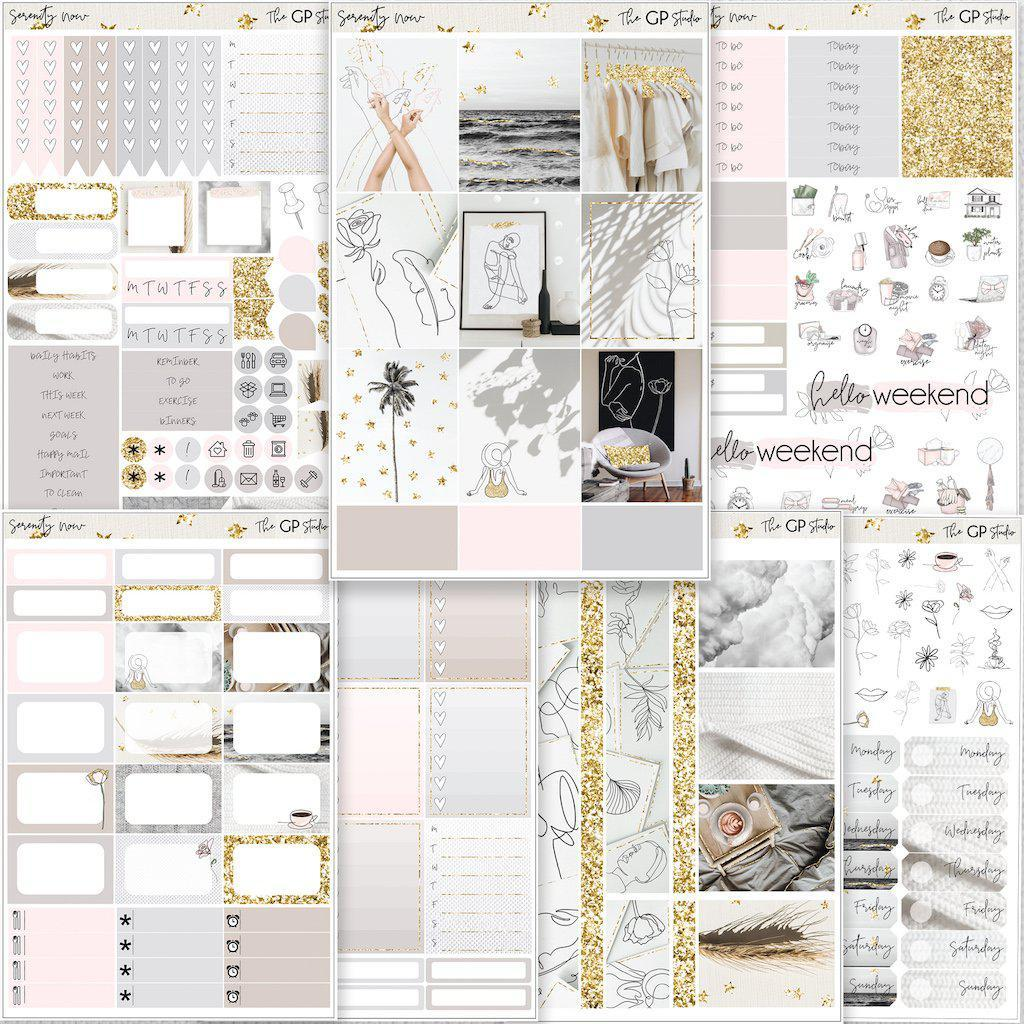 SERENITY NOW Planner Sticker Kit-The GP Studio