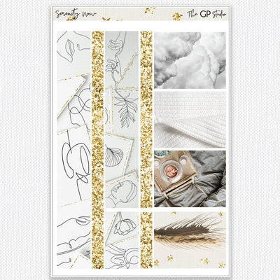 SERENITY NOW Washi Sheet Stickers-The GP Studio