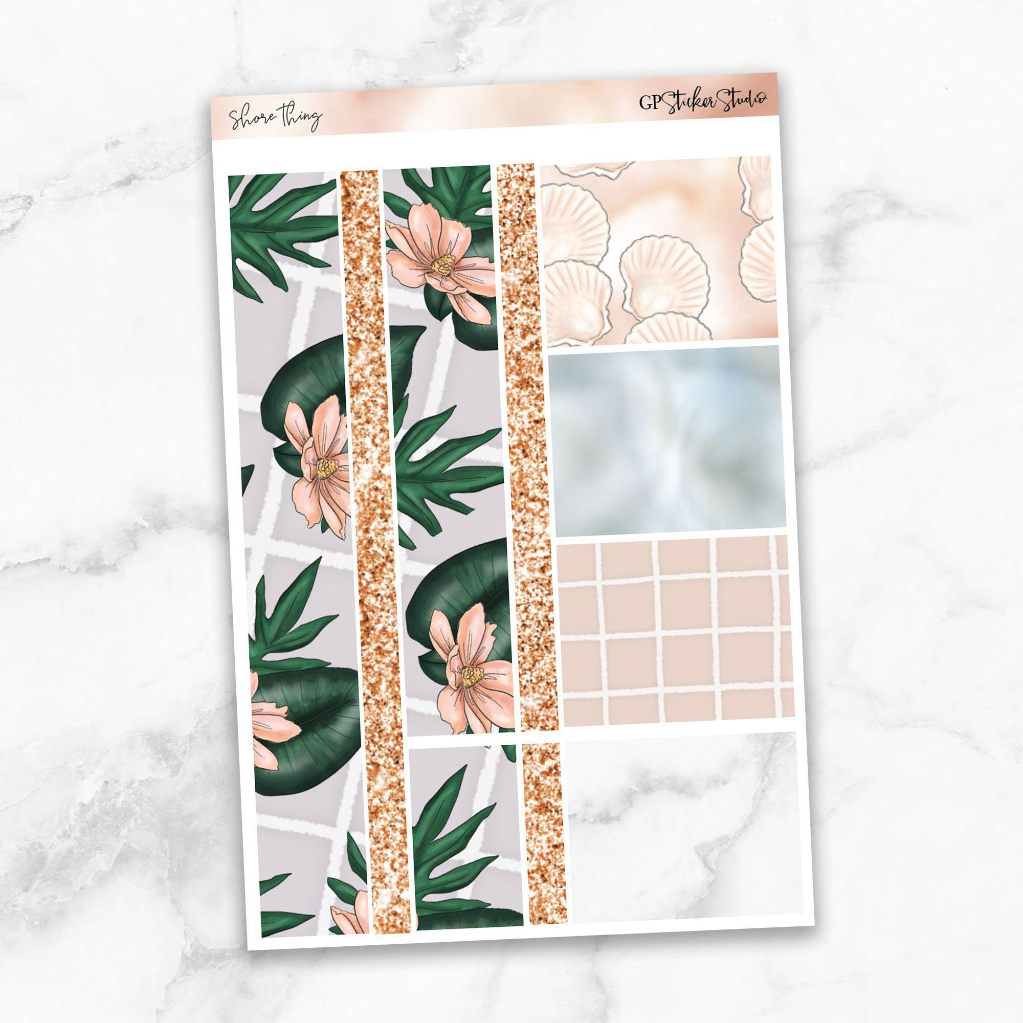 SHORE THING Washi Sheet Stickers-The GP Studio