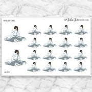 SICK DAY GP Girl Planner Stickers-The GP Studio