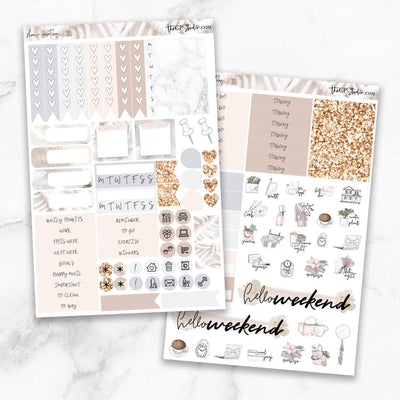 SLOW MOTION Functional Planner Sticker Kit-The GP Studio