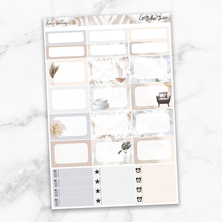 SLOW MOTION Half Boxes Planner Stickers-The GP Studio