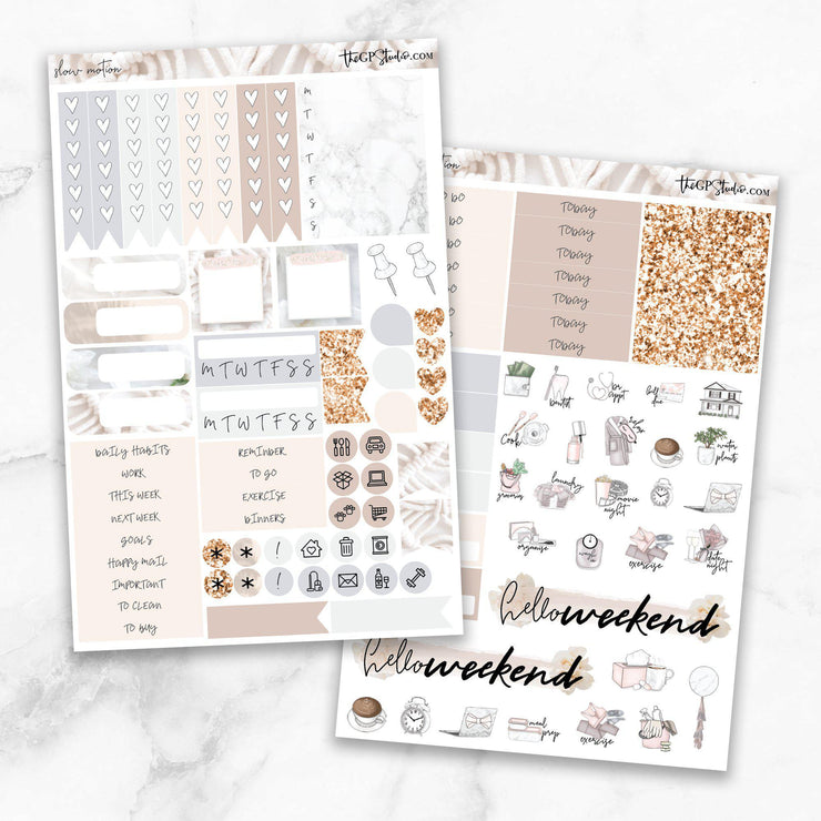 SLOW MOTION Planner Sticker Kit-The GP Studio