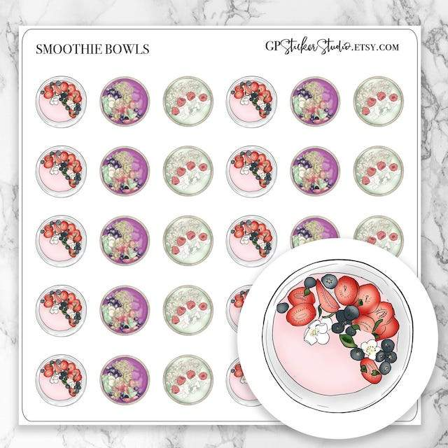 SMOOTHIE BOWL Icon Planner Stickers-The GP Studio