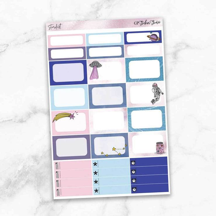 STARDUST Half Boxes Planner Stickers-The GP Studio