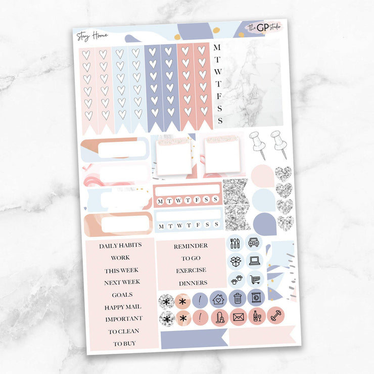 STAY HOME Functional Planner Sticker Kit-The GP Studio