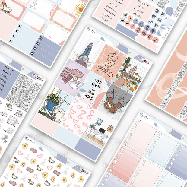 STAY HOME Planner Sticker Kit-The GP Studio