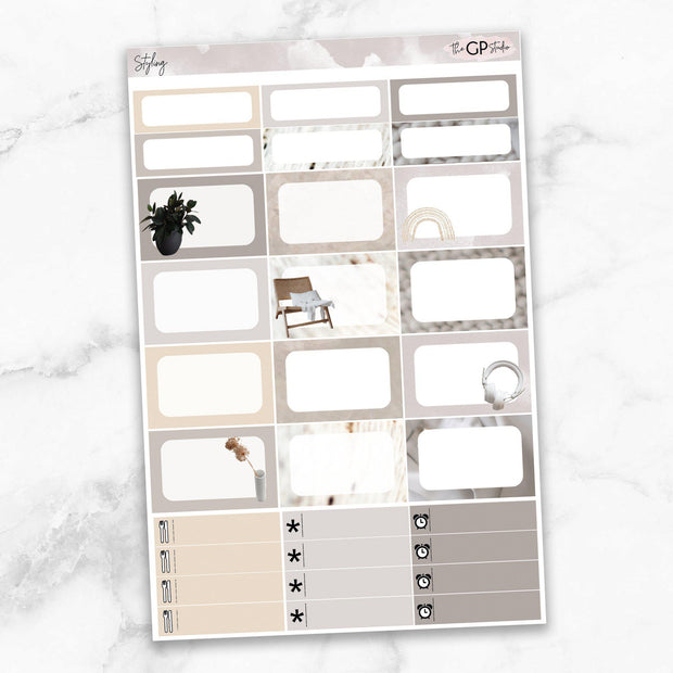STYLING Half Boxes Planner Stickers-The GP Studio