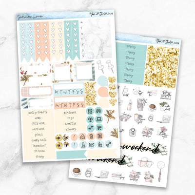 SUMMER LOVIN' Functional Planner Sticker Kit-The GP Studio