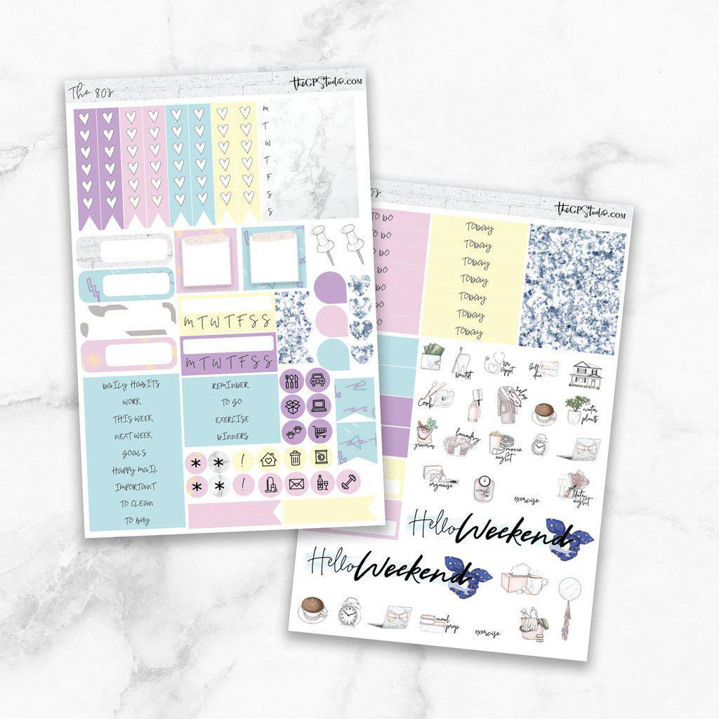 THE 80's Functional Planner Sticker Kit-The GP Studio