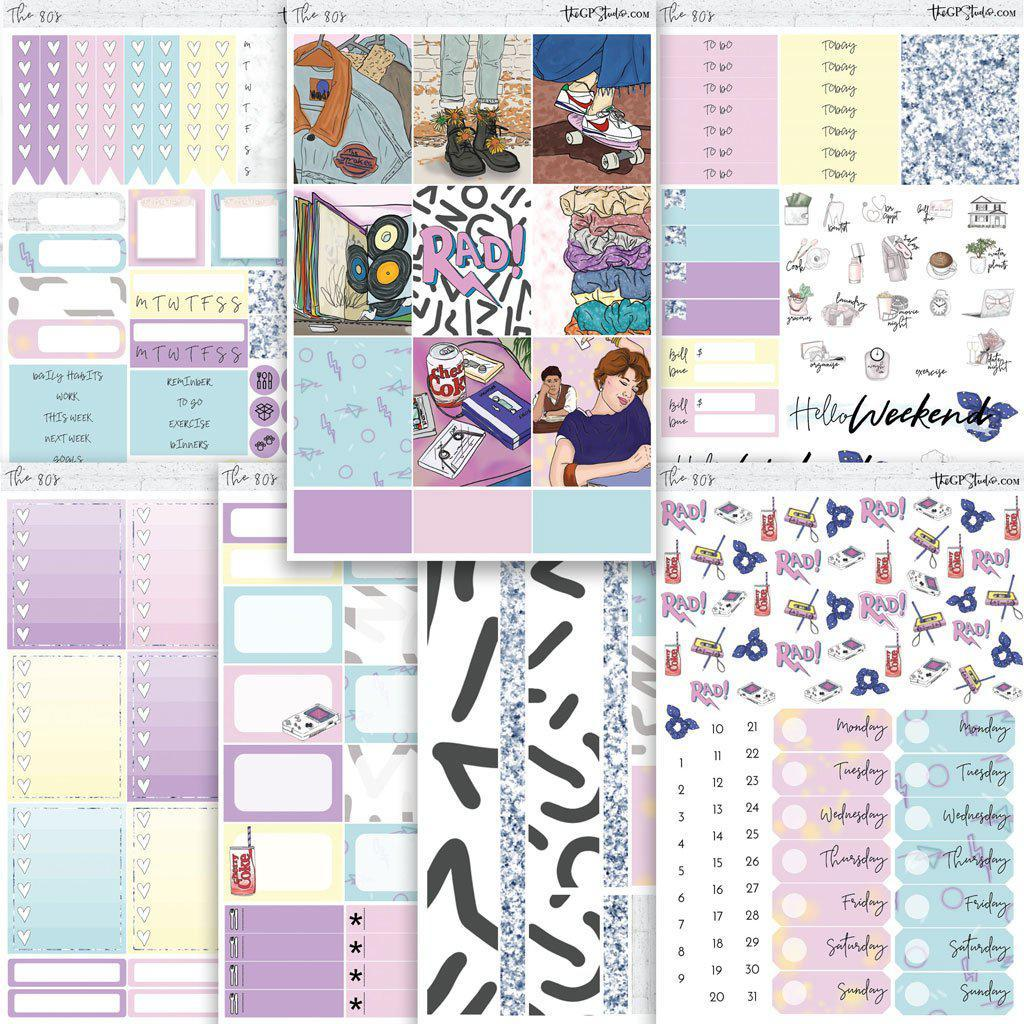 THE 80's Planner Sticker Kit-The GP Studio