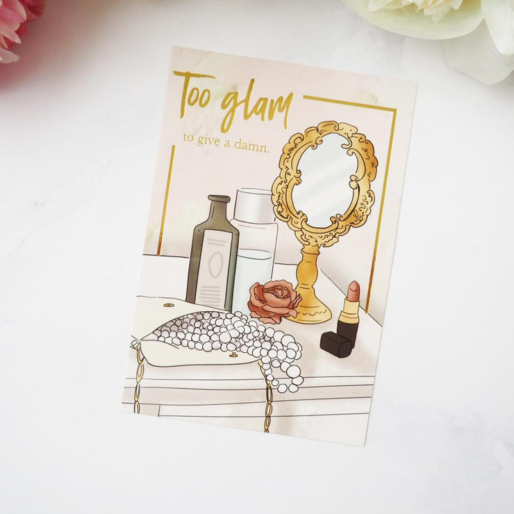 TOO GLAM JOURNAL CARD-The GP Studio