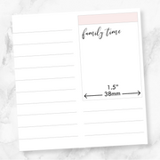 TRANSPARENT FAMILY TIME SCRIPT - Clear Stickers-The GP Studio