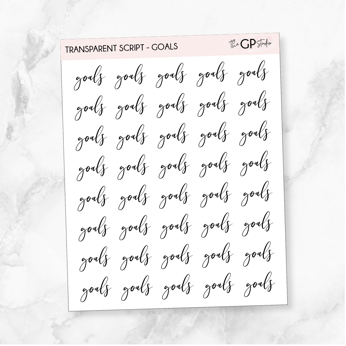 TRANSPARENT GOALS SCRIPT - Clear Stickers-The GP Studio