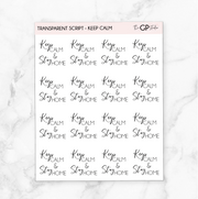 TRANSPARENT KEEP CALM & STAY HOME SCRIPT - Clear Stickers-The GP Studio