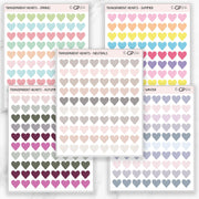 TRANSPARENT MINI HEARTS - Clear Stickers-The GP Studio