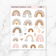 TRANSPARENT RUSTIC RAINBOW STICKERS - Clear Stickers