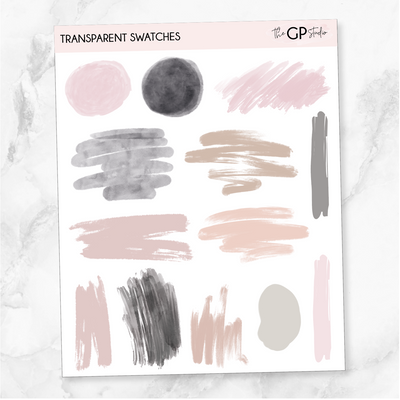 TRANSPARENT SWATCHES - Clear Stickers-The GP Studio