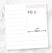 TRANSPARENT TIDY UP SCRIPT - Clear Stickers-The GP Studio
