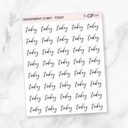 TRANSPARENT TODAY SCRIPT - Clear Stickers-The GP Studio